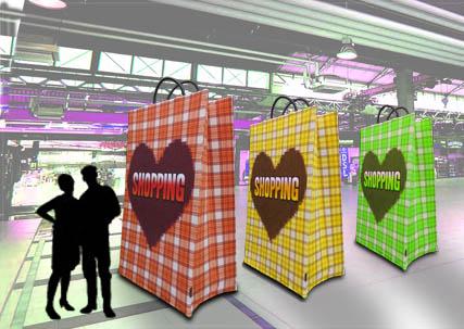 XL Einkaufstasche Indoor Eyecatcher im Großformat